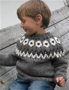 Får i ring sweater, barn, Læsø Hedegarn